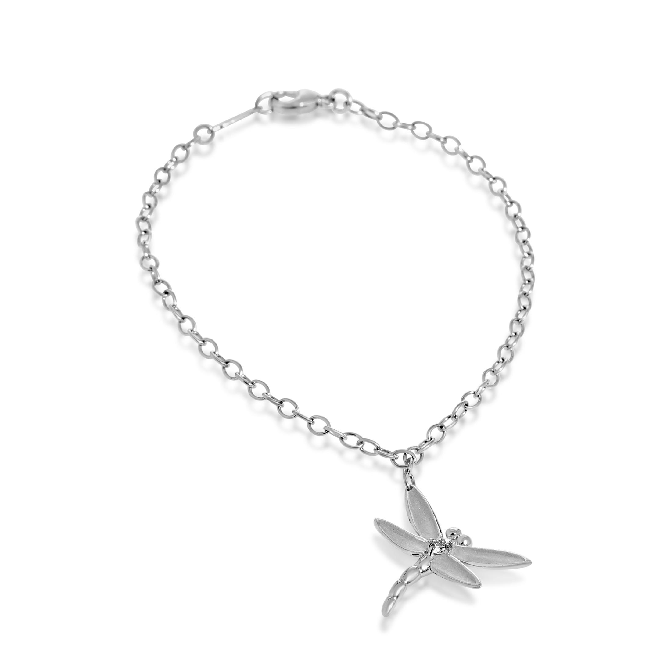 Tiffany & Co. Enchant Women's 18K White Gold Diamond Dragonfly Charm Bracelet