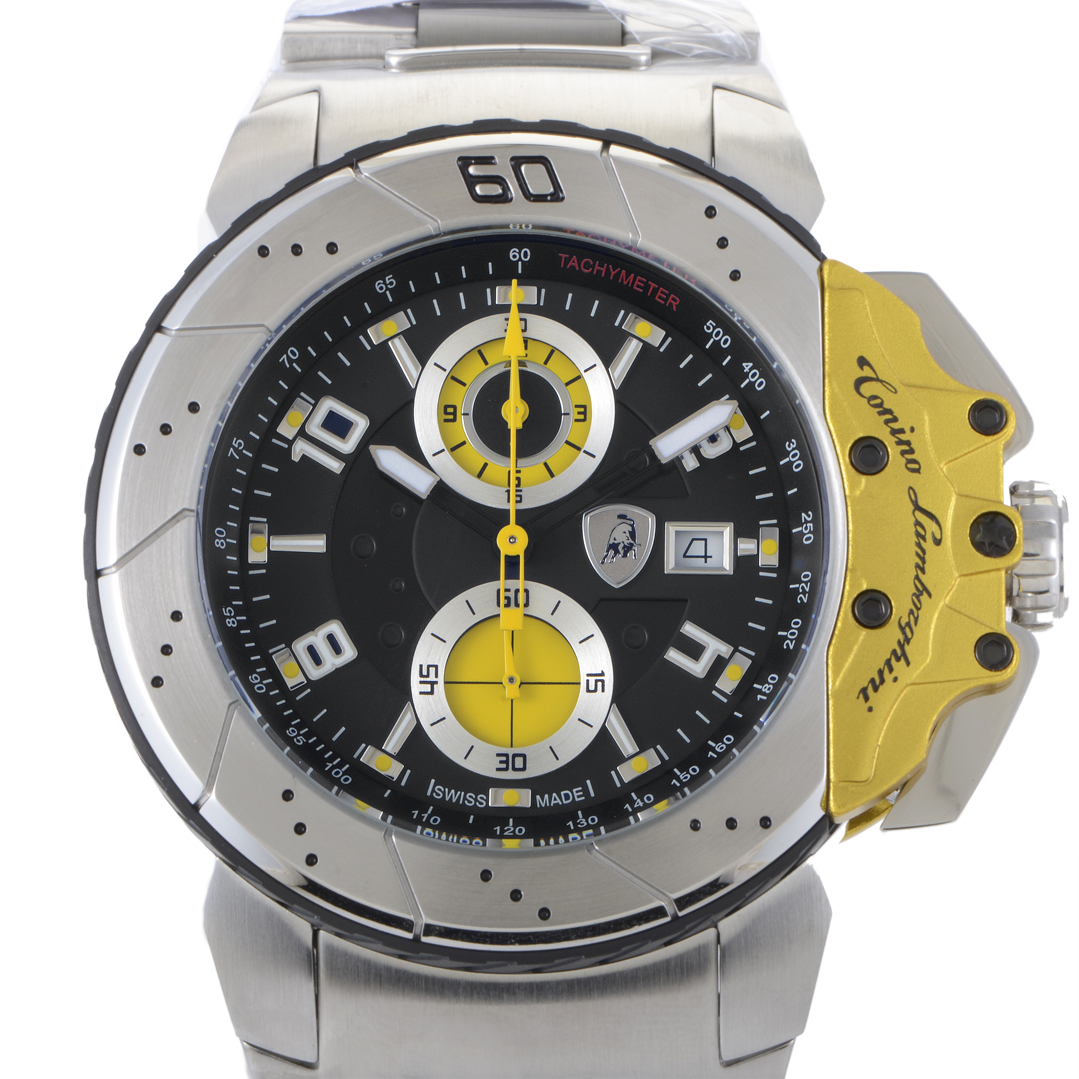 Men's Brake Style Stainless Steel Quartz Chronograph Watch B2
