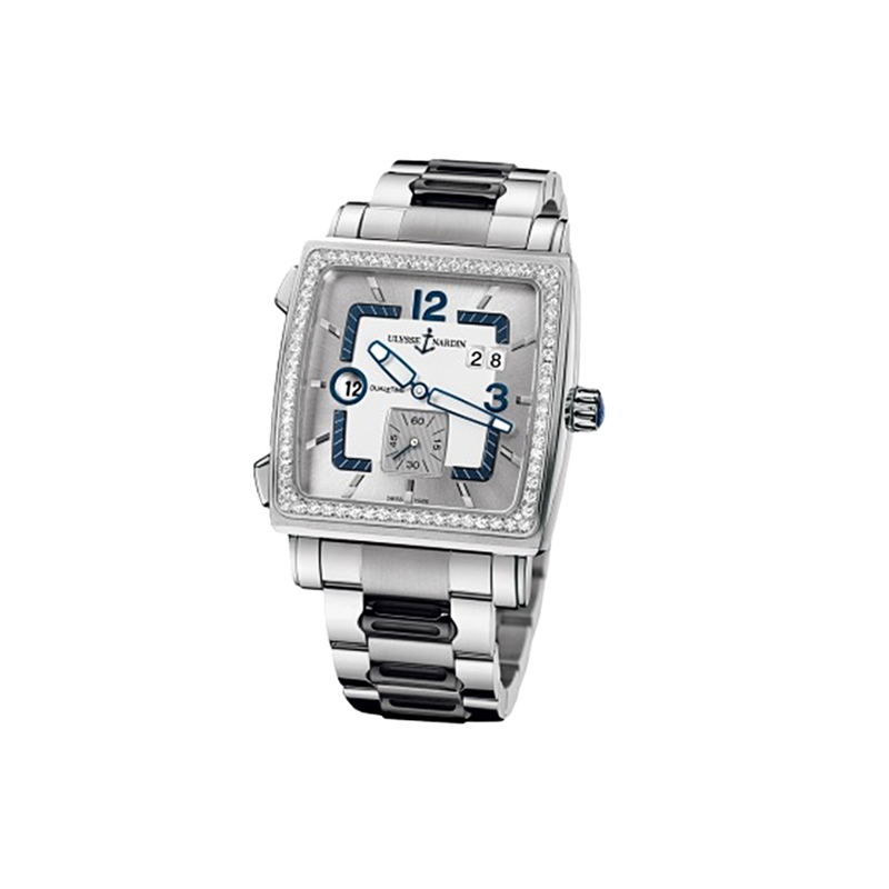 Quadrato Dual Time 42x42mm 243-92B-7M/601
