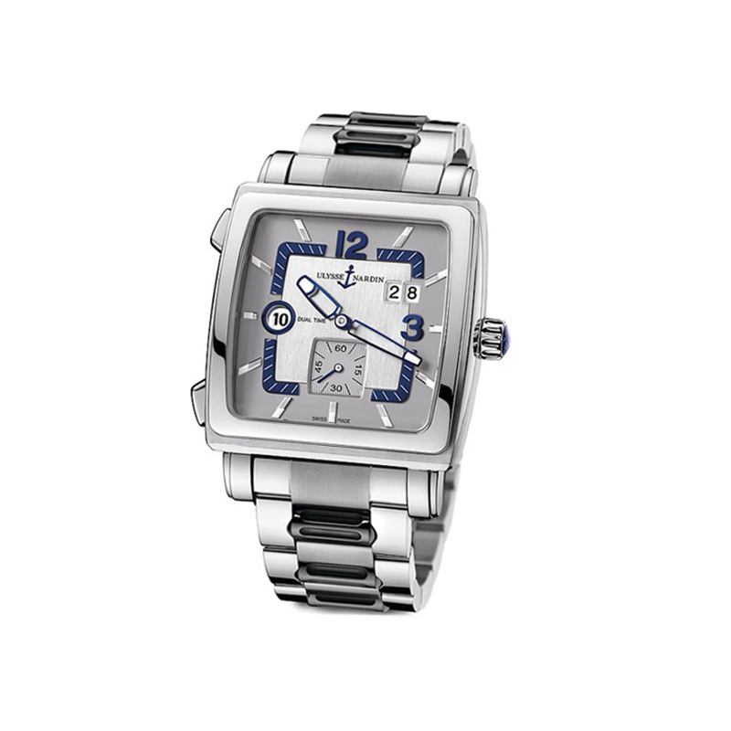 Quadrato Dual Time 42x42mm 243-92-7M/601