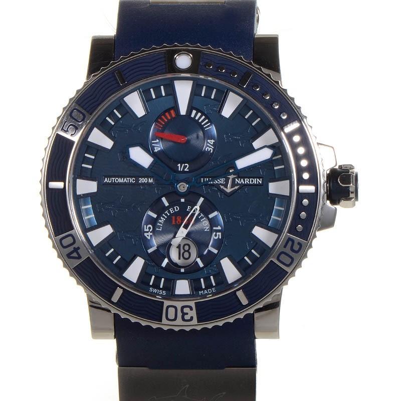 Maxi Marine Diver Chronometer Titanium Hammerhead Shark 45mm 263-91LE-3
