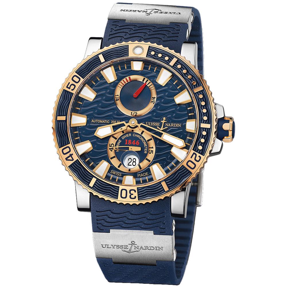 Maxi Marine Diver Chronometer Titanium 45mm 265-90-3T/93