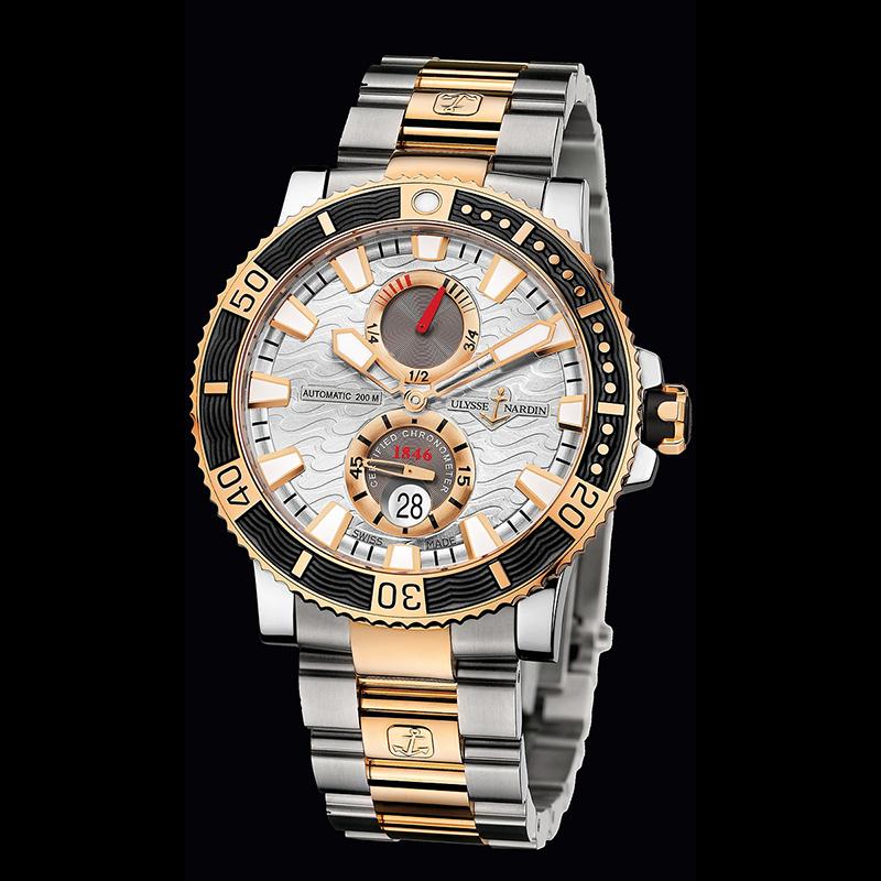 Maxi Marine Diver Chronometer Titanium 45mm 265-90-8M/91