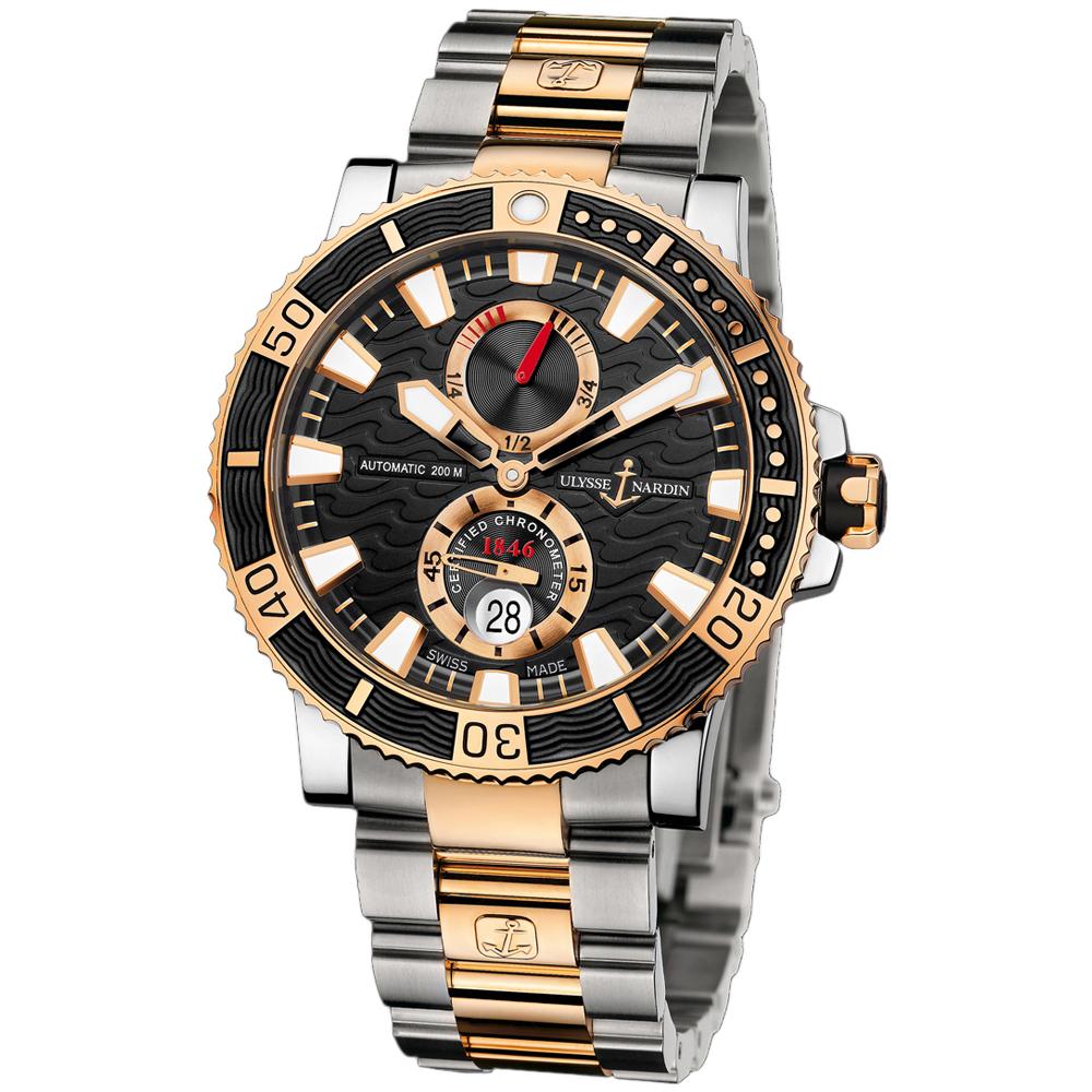 Maxi Marine Diver Chronometer Titanium 45mm 265-90-8M/92