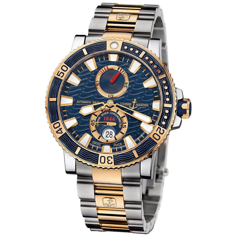 Maxi Marine Diver Chronometer Titanium 45mm 265-90-8M/93