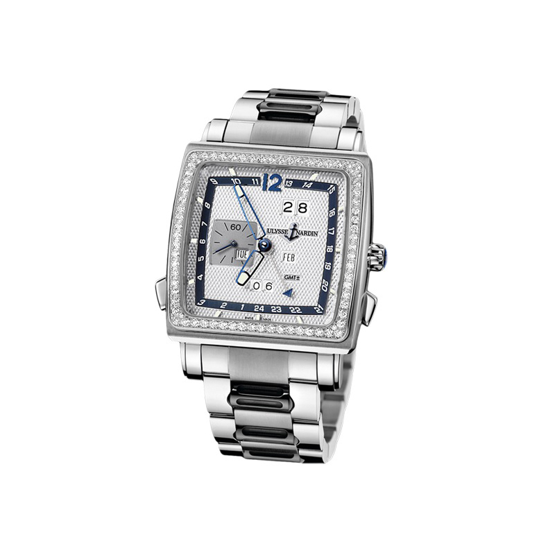 Quadrato Dual Time Perpetual 42x42mm 320-90B-8M/61