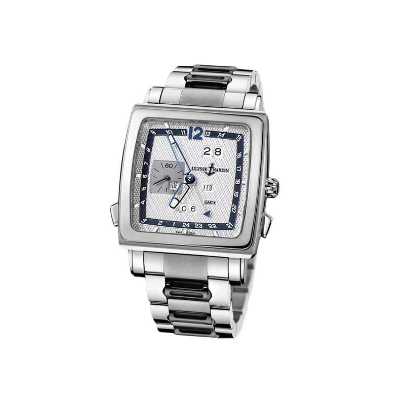 Quadrato Dual Time Perpetual 42x42mm 320-90-8M/61
