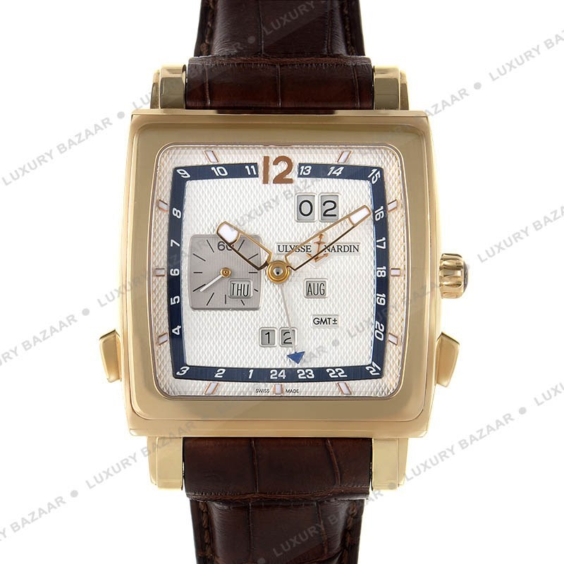 Quadrato Dual Time Perpetual 42x42mm 326-90/61