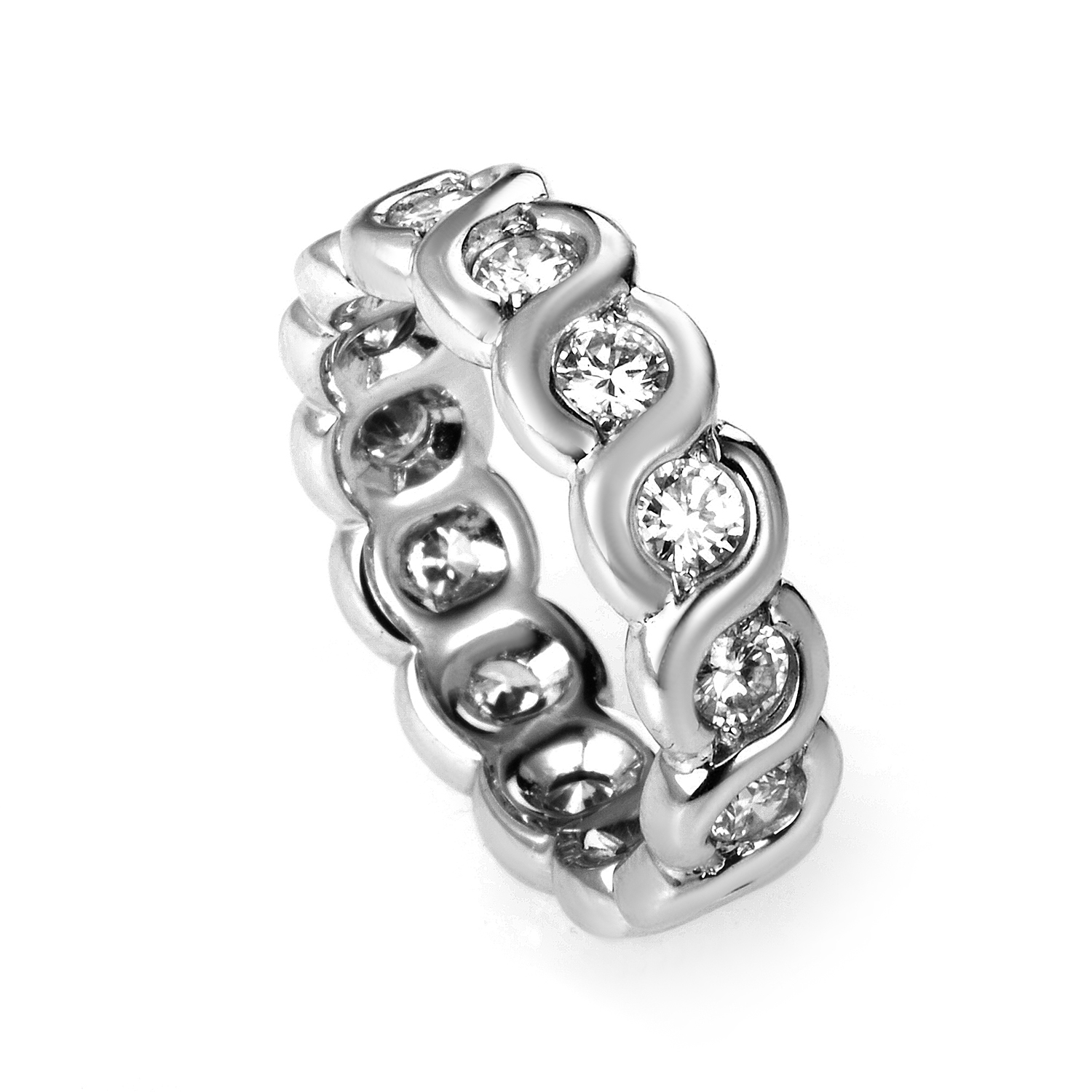 Van Cleef & Arpels 18K White Gold Diamond Eternity Band