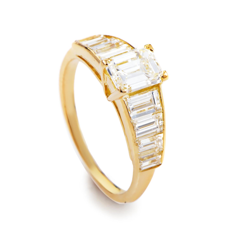 Van Cleef & Arpels 18K Yellow Gold Diamond Engagement Ring