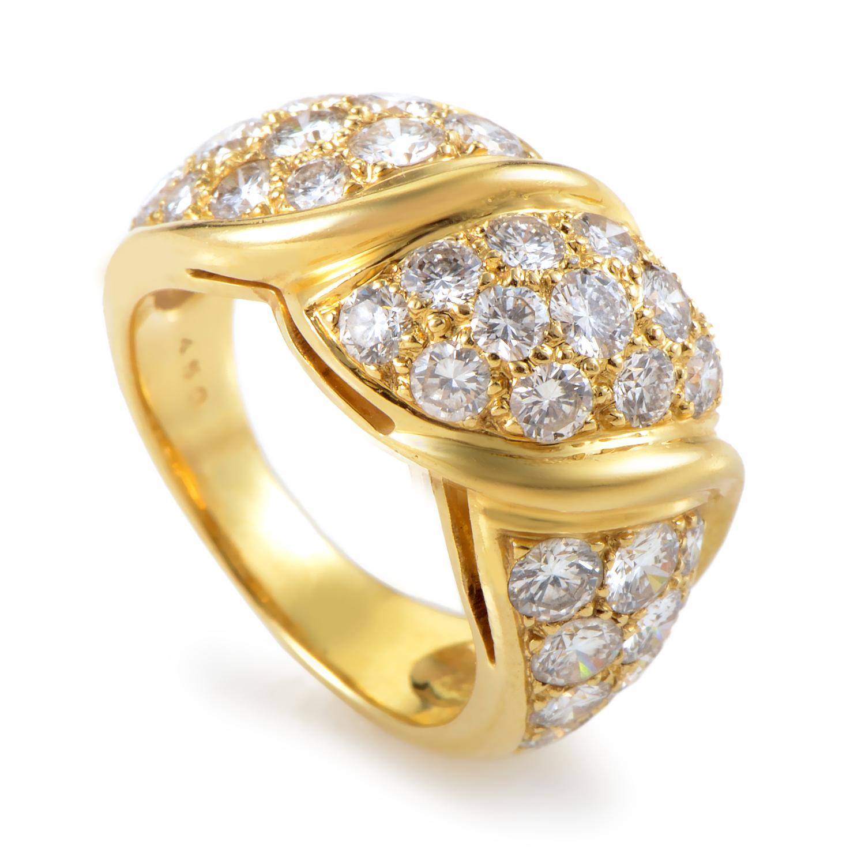 Van Cleef & Arpels 18K Yellow Gold Diamond Band Ring