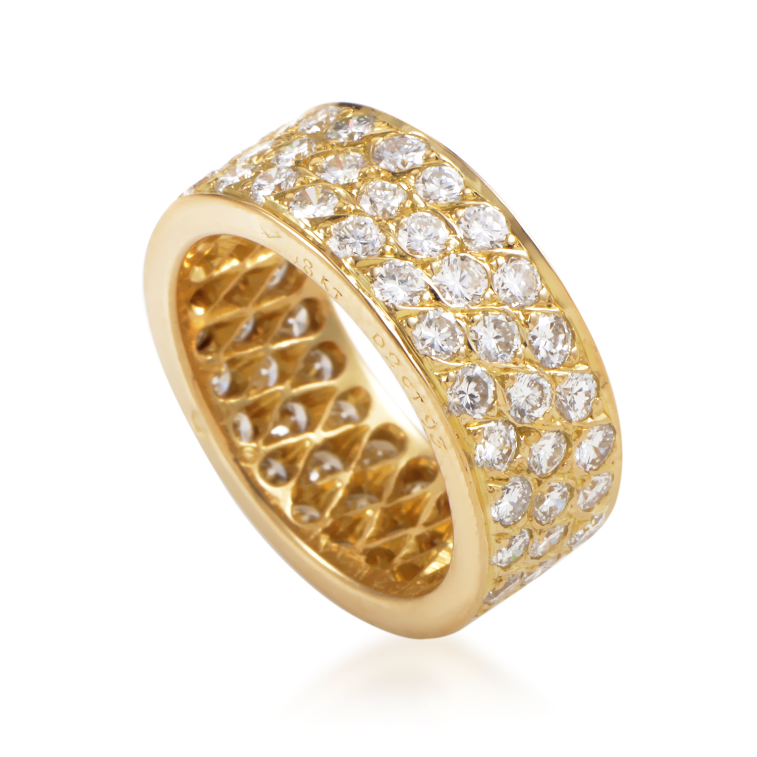 Van Cleef & Arpels Women's 18K Yellow Gold Diamond Pave Eternity Band Ring