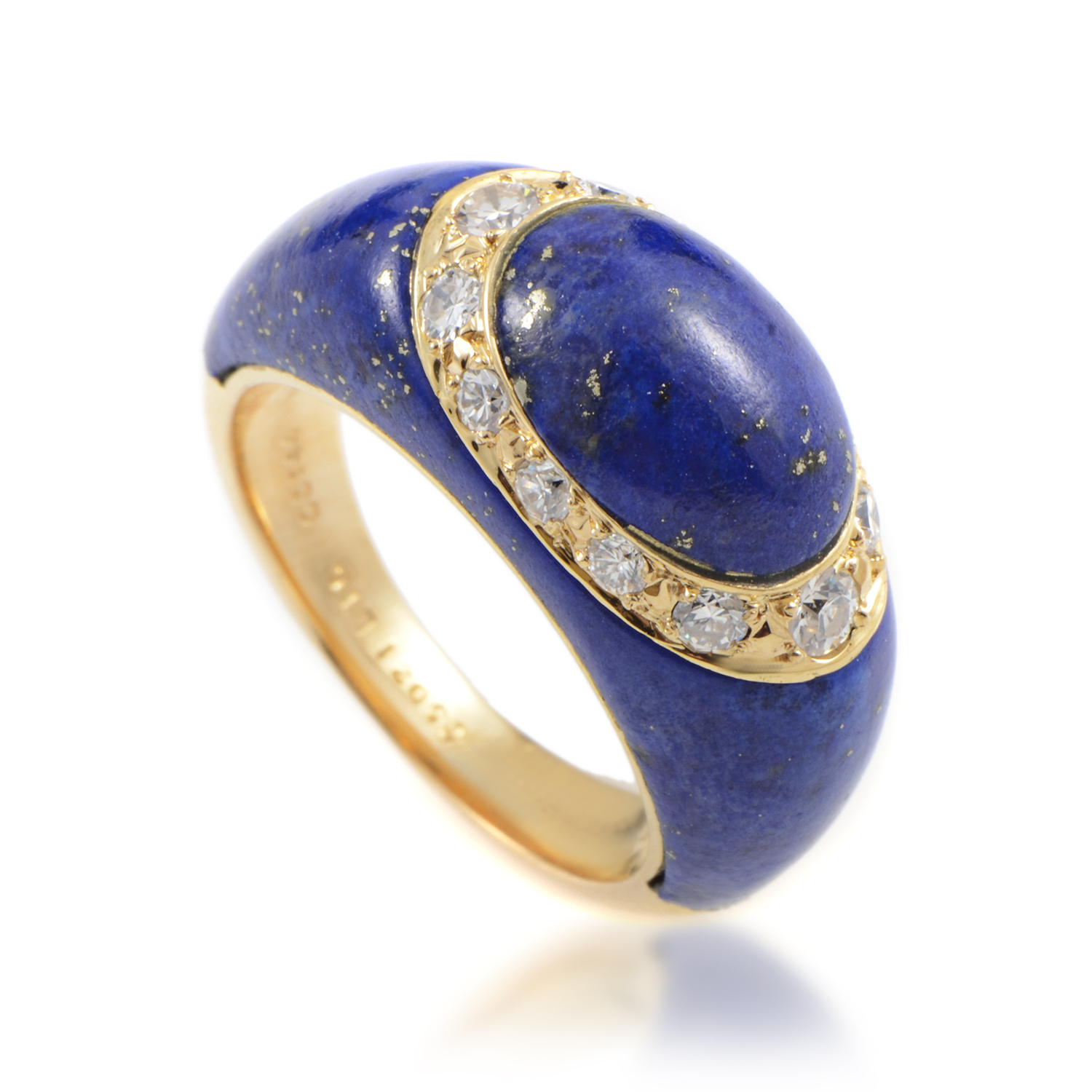 Van Cleef & Arpels Women's 18K Yellow Gold Diamond & Lapis Lazuli Ring