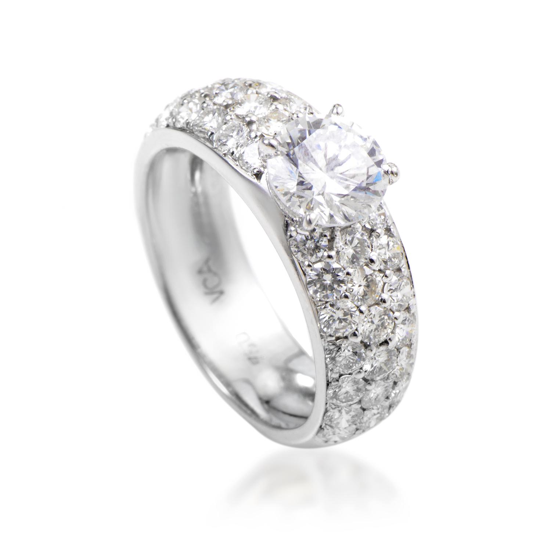 Van Cleef & Arpels Women's 18K White Gold Diamond Engagement Ring