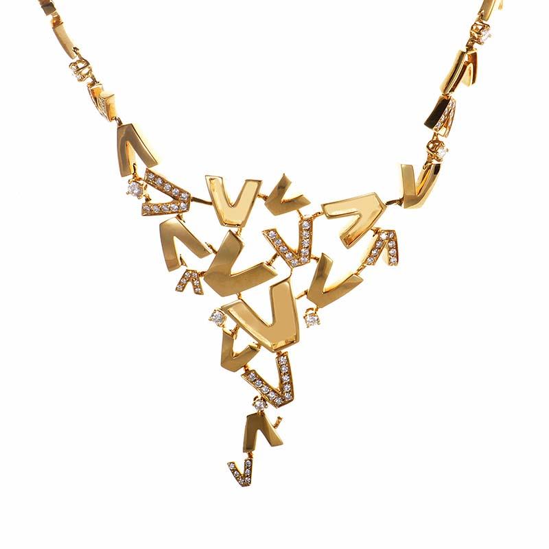 V-Divine 18K Yellow Gold & Diamond Necklace FBX4111A001