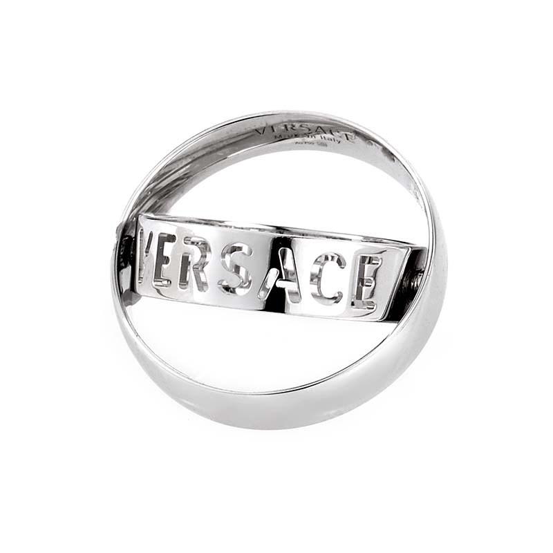Versace Circle Gold Versace Iconic 18k White Gold