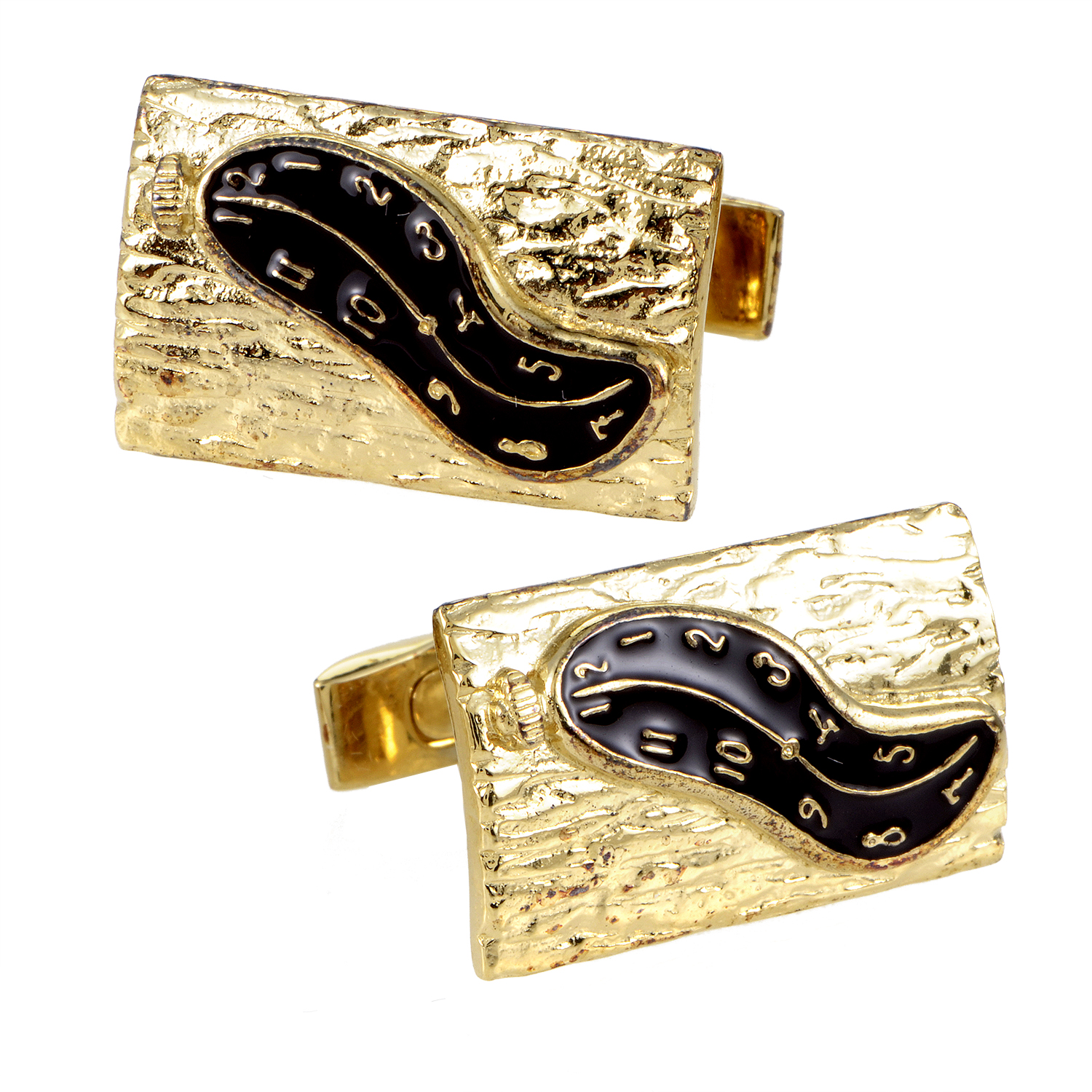 Men's Dali Black Enamel Cufflinks 980C016