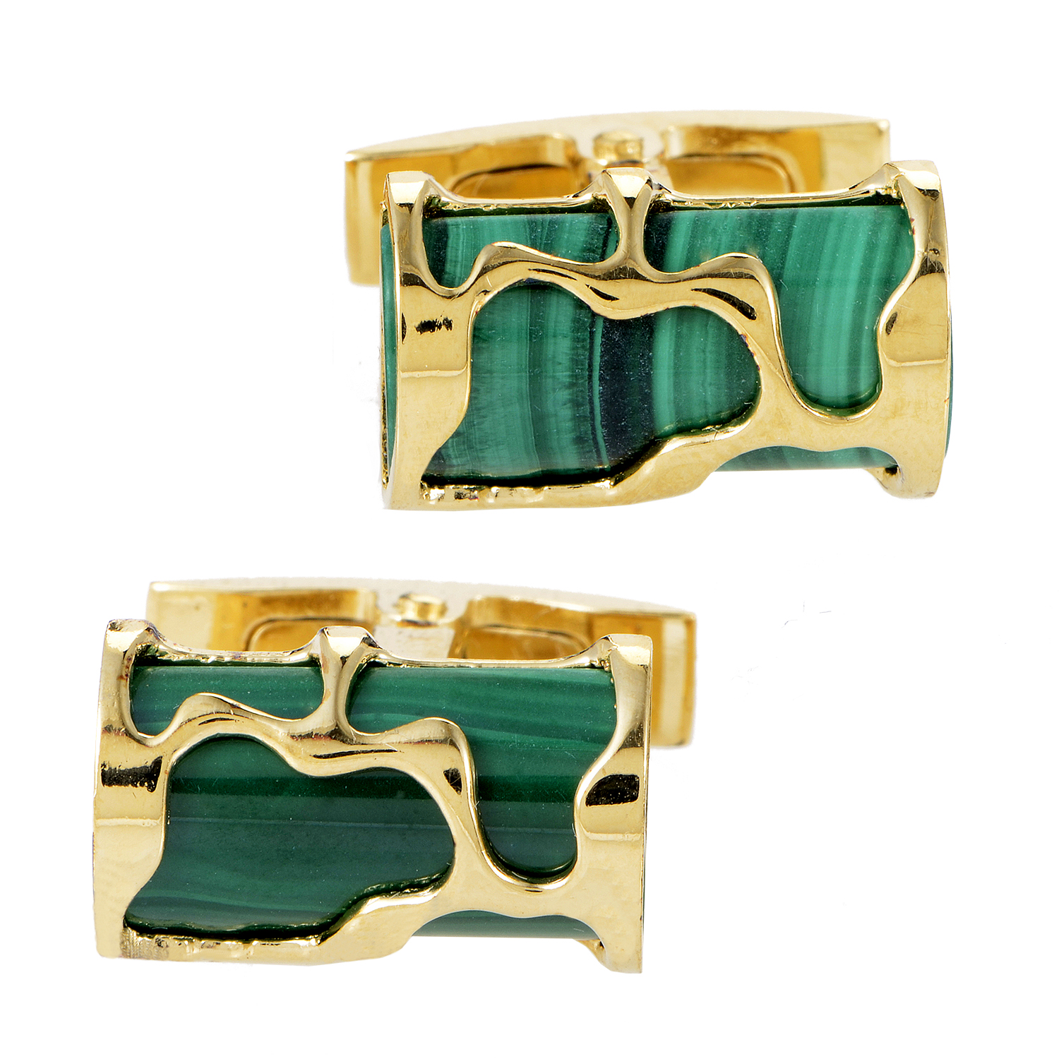 Men's Art Malachite Vermeil Cufflinks 980C042