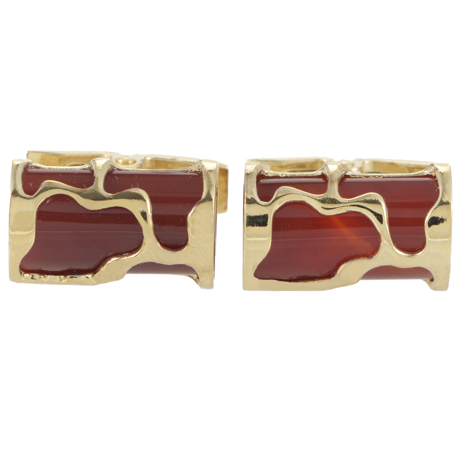 Men's Art Corniola Vermeil Cufflinks 980C044