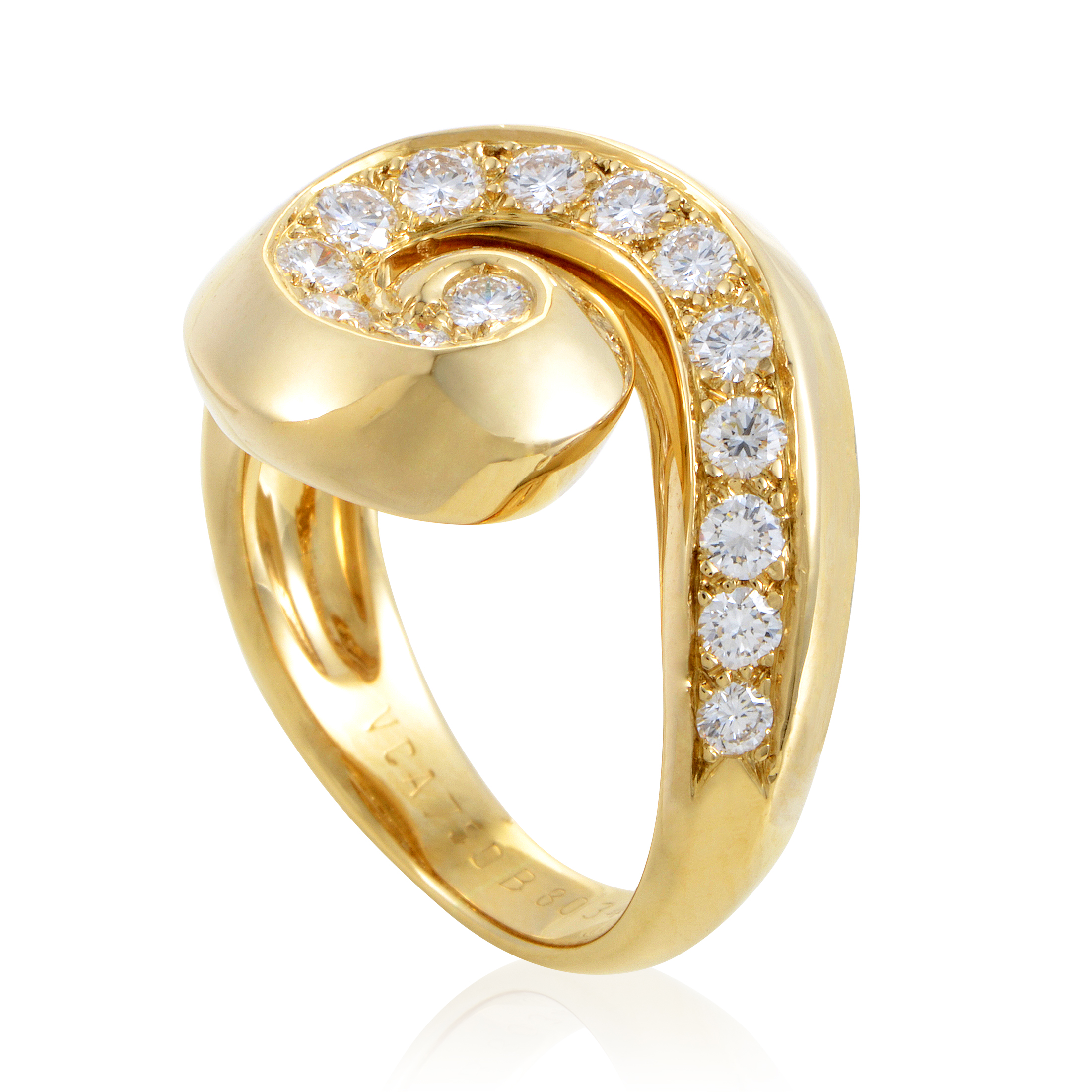 Van Cleef & Arpels Women's Diamond Breeze 18K Yellow Gold Ring