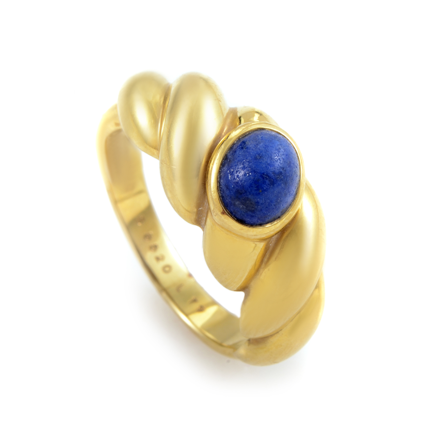 Van Cleef & Arpels 18K Yellow Gold Lapis Band Ring