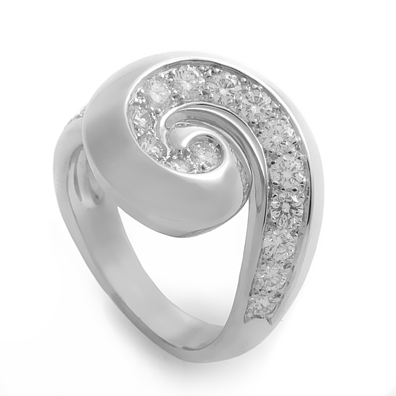 Van Cleef & Arpels Diamond Breeze 18K White Gold Ring