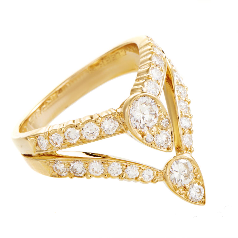 Van Cleef & Arpels Women's 18K Yellow Gold Diamond Ring