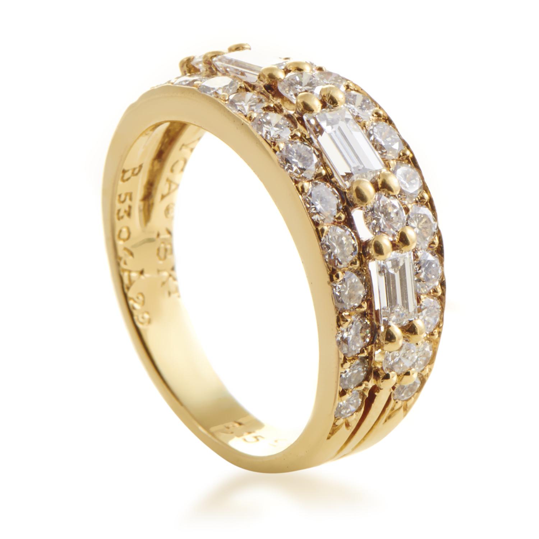 Van Cleef & Arpels Women's 18K Yellow Gold Multi-Diamond Band Ring