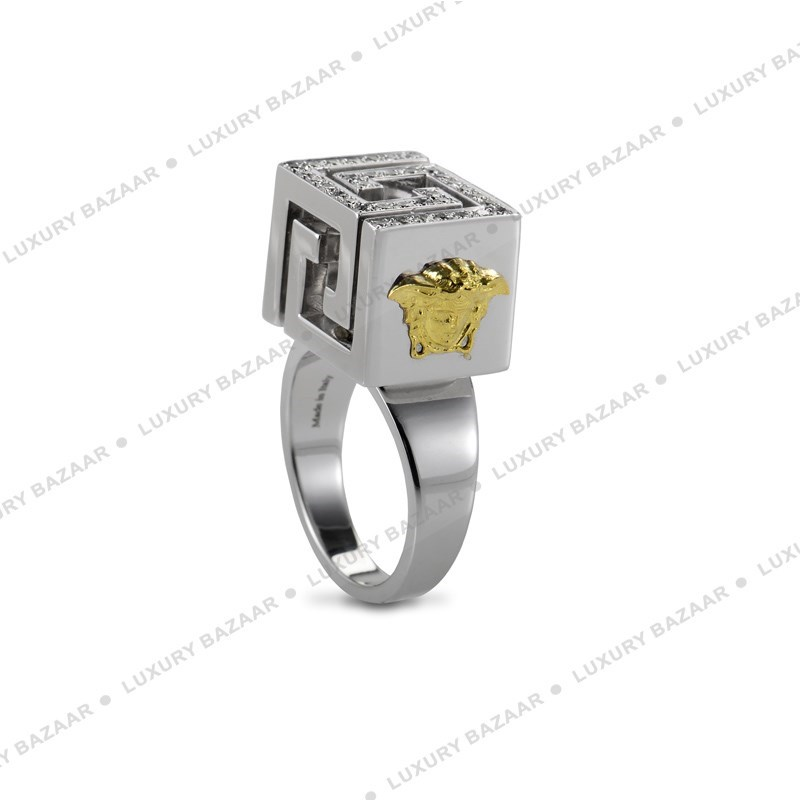 Diamond Pave Cube Ring