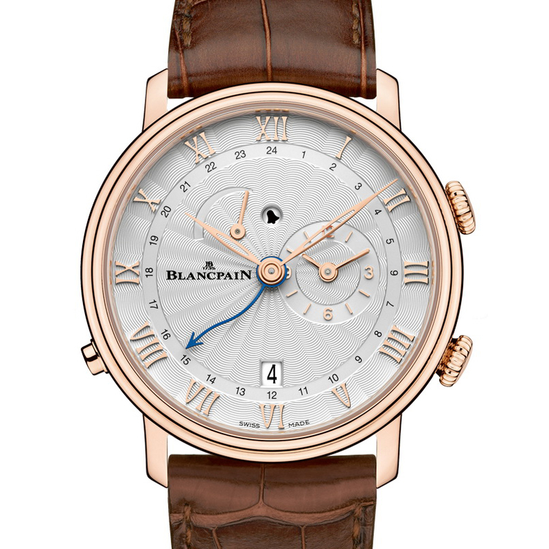 Villeret Réveil GMT 6640-3642-55B (Rose Gold)