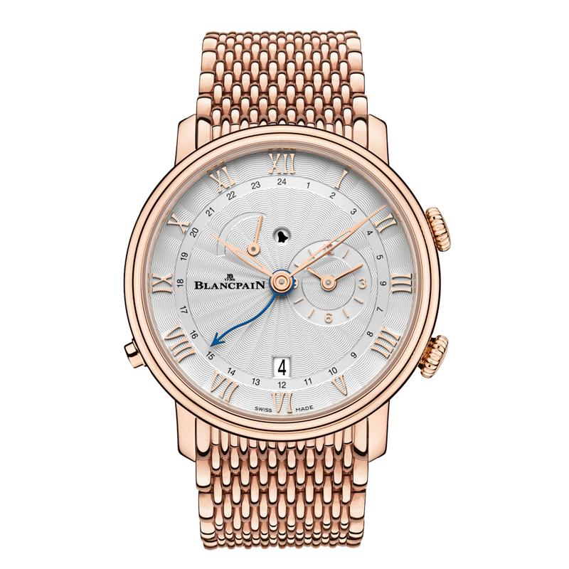 Villeret Réveil GMT 6640-3642-MMB (Rose Gold)