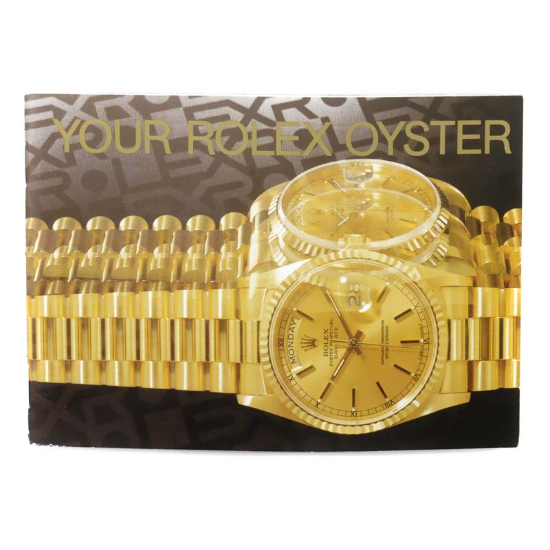 Vintage English Oyster President Watch Catalog/Instruction Manual