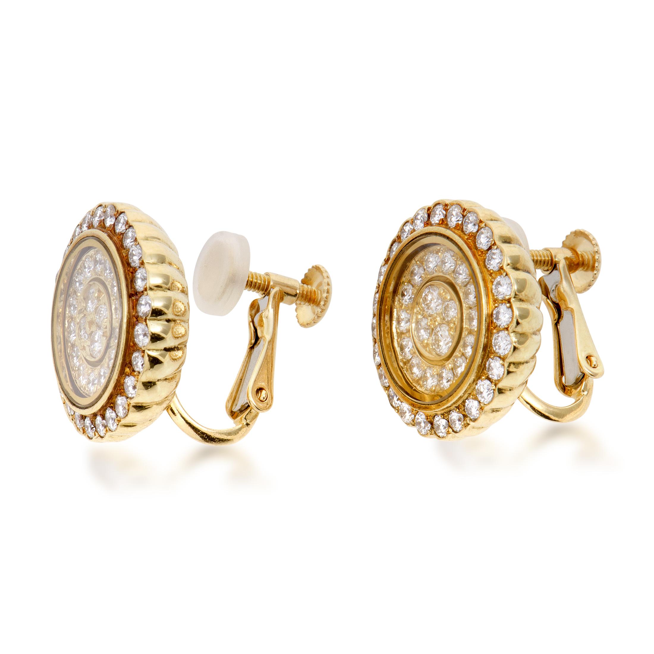 estate waltham womens 18k yellow gold diamond screw back. Black Bedroom Furniture Sets. Home Design Ideas
