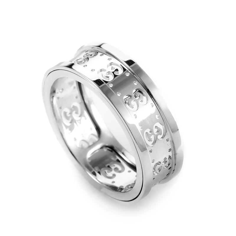 Icon 18K White Gold Band Ring AGGUR1038