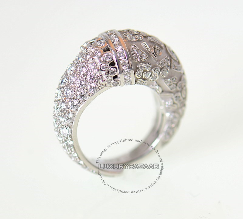 18K White Gold & Diamond Ava Ring