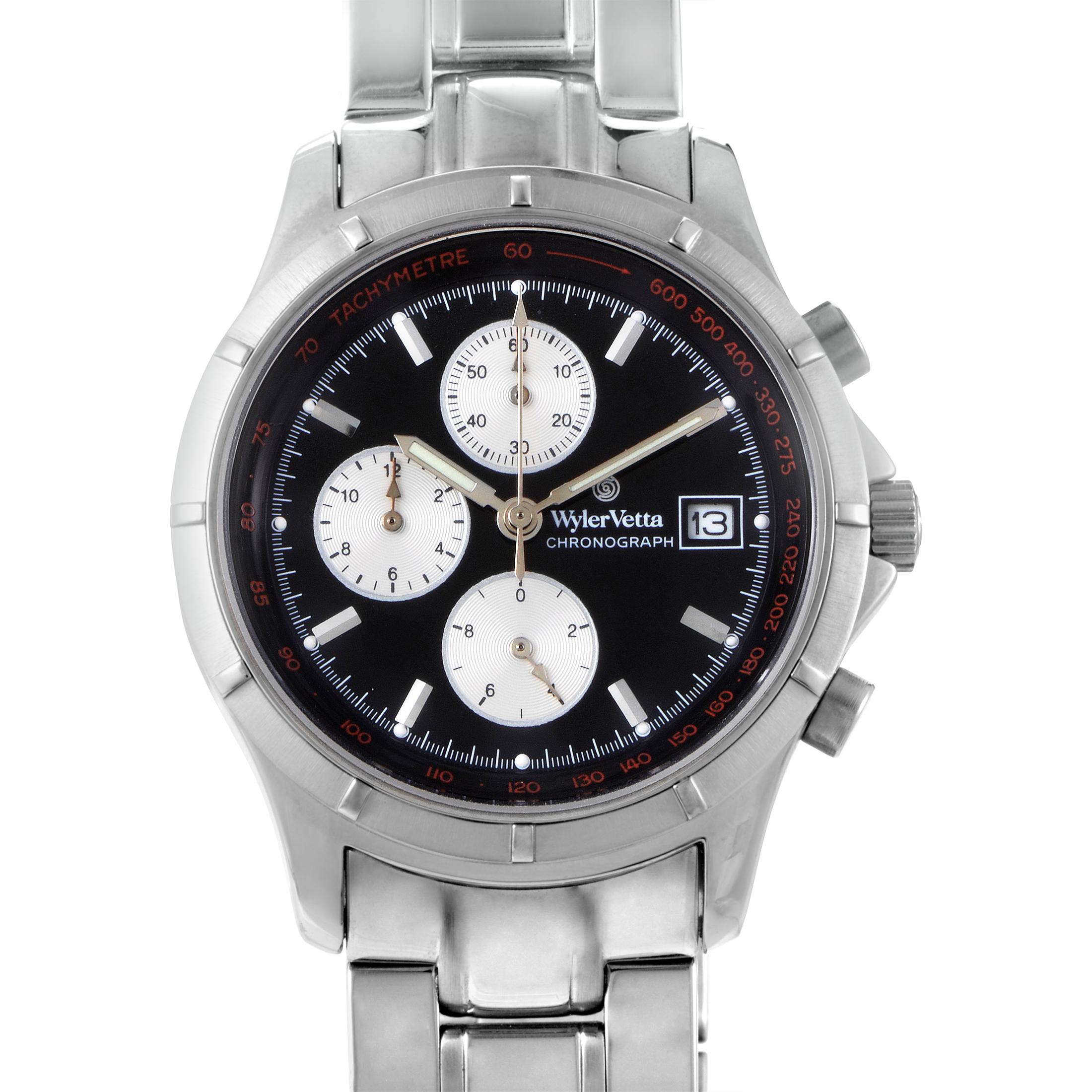 Etanche Men's Stainless Steel Quartz Chronograph Watch 11977024