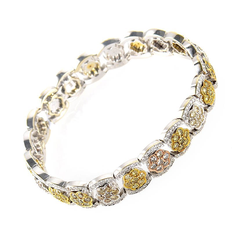 18K Multi-Gold Diamond Bracelet CBD6716