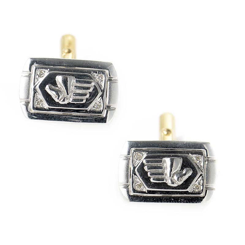 Men's 18K White & Yellow Gold Pony Cufflinks CPD8657
