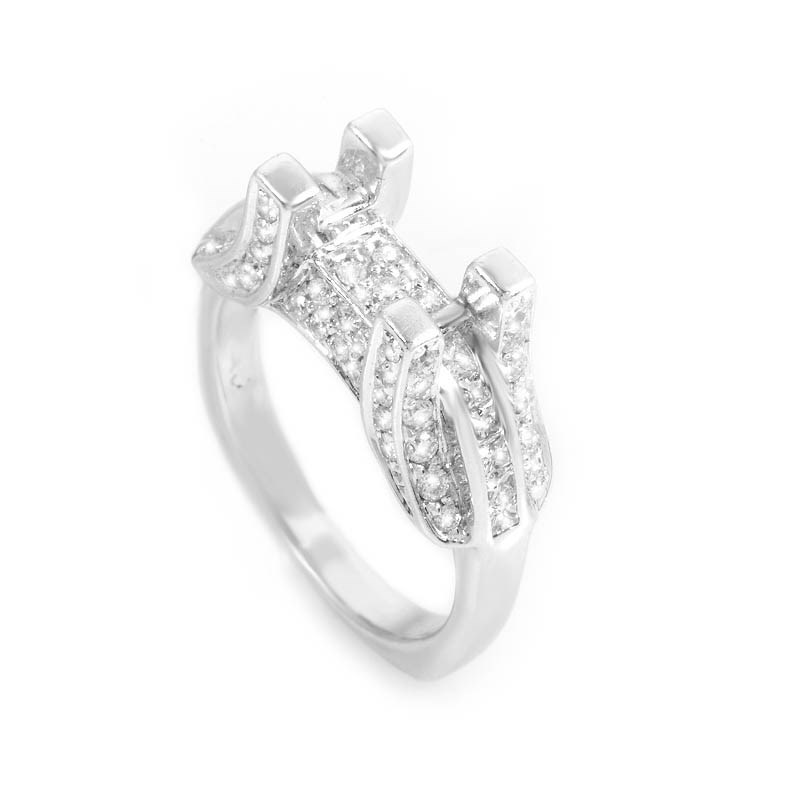Exceptional 18K White Gold Bridal Mounting