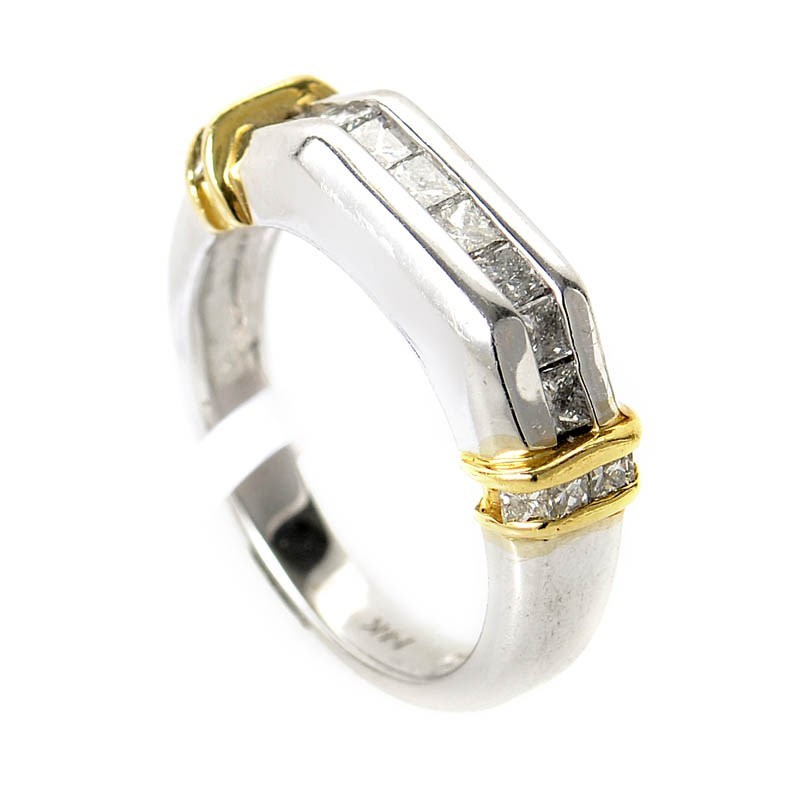 14K White & Yellow Gold Diamond Ring