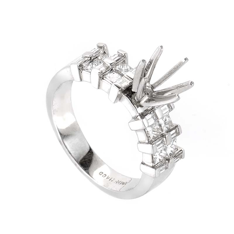 Platinum & Diamond Mounting Ring CRR4771