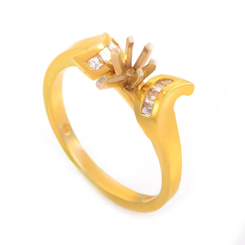 14K Yellow Gold Bridal Mounting Ring