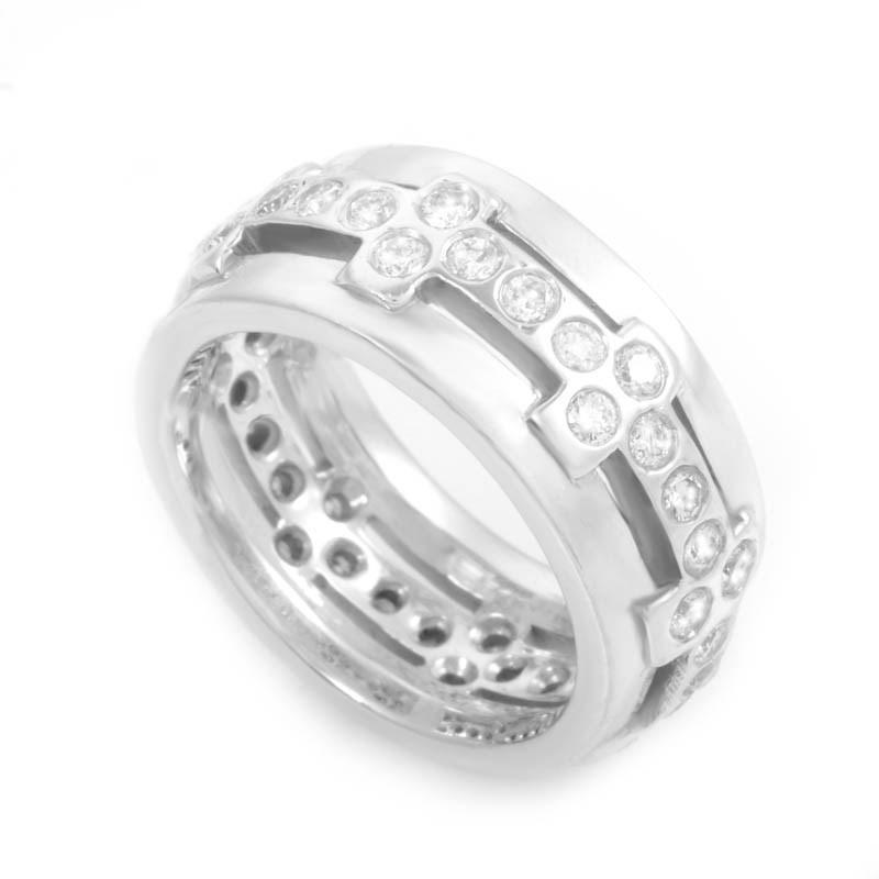 Gorgeous 18K White Gold Diamond Band Ring