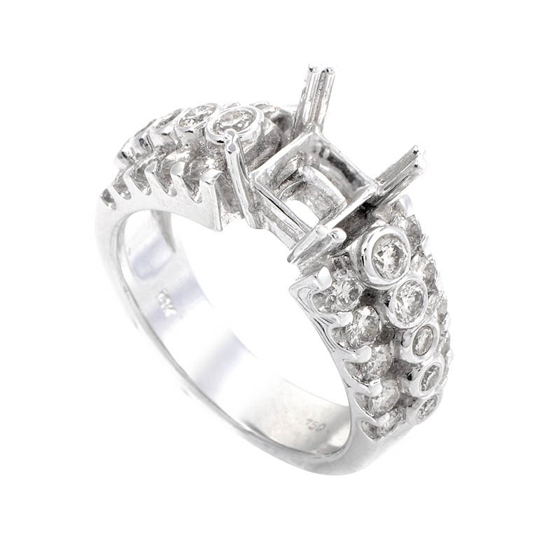 18K White Gold & Diamond Bridal Mounting CRR8539