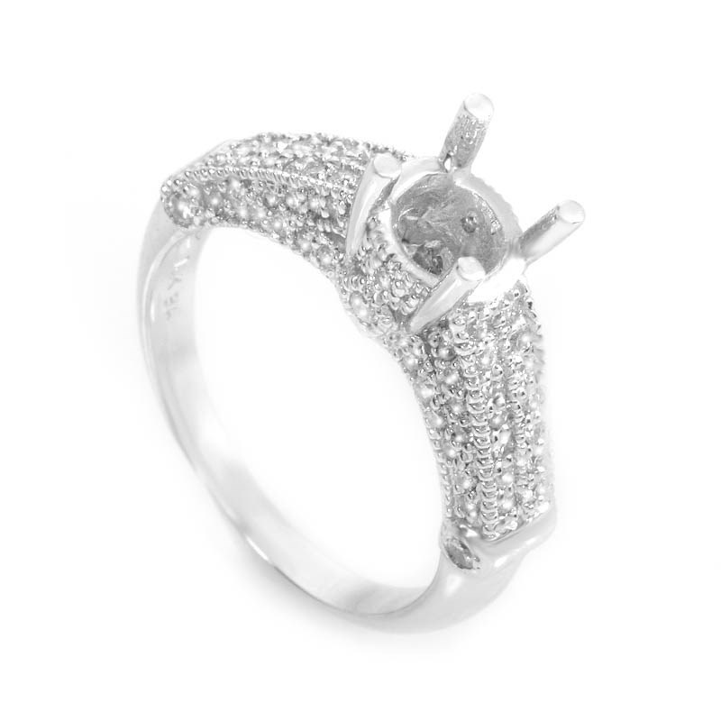 Spectacular 18K White Gold Bridal Mounting