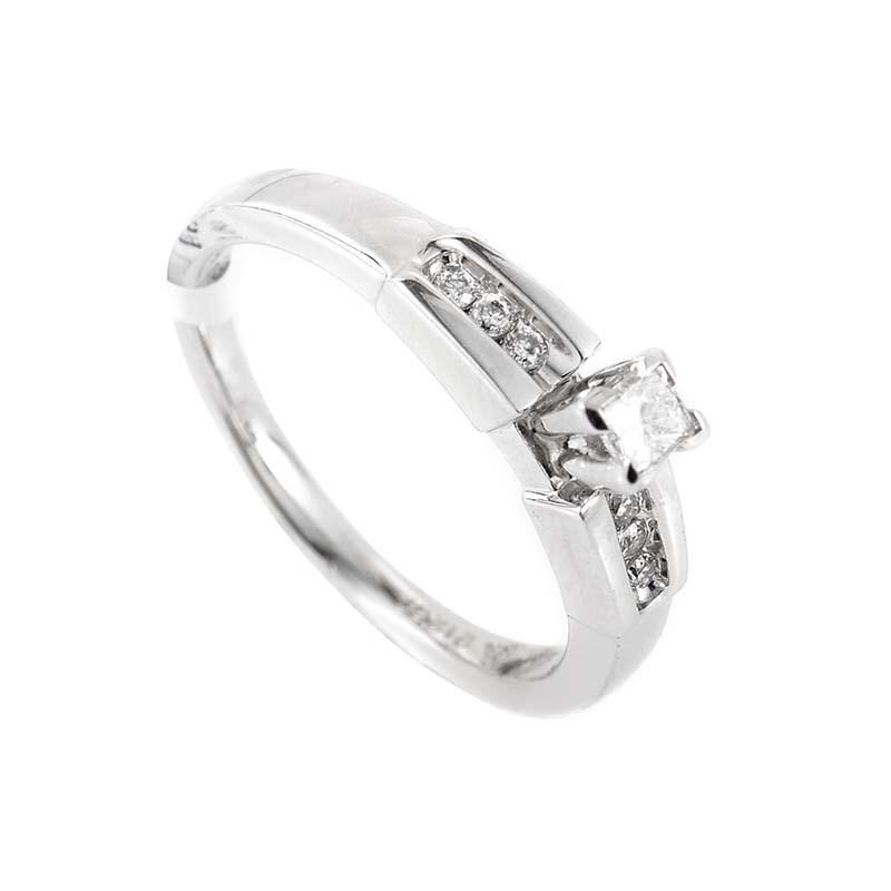 14K White Gold & Diamond Engagement Ring EN4-02577
