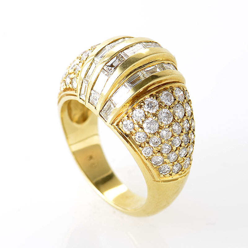18K Yellow Gold Multi Diamond Ring