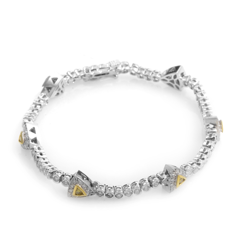 18K Multi-Gold Diamond Bracelet CBD6718