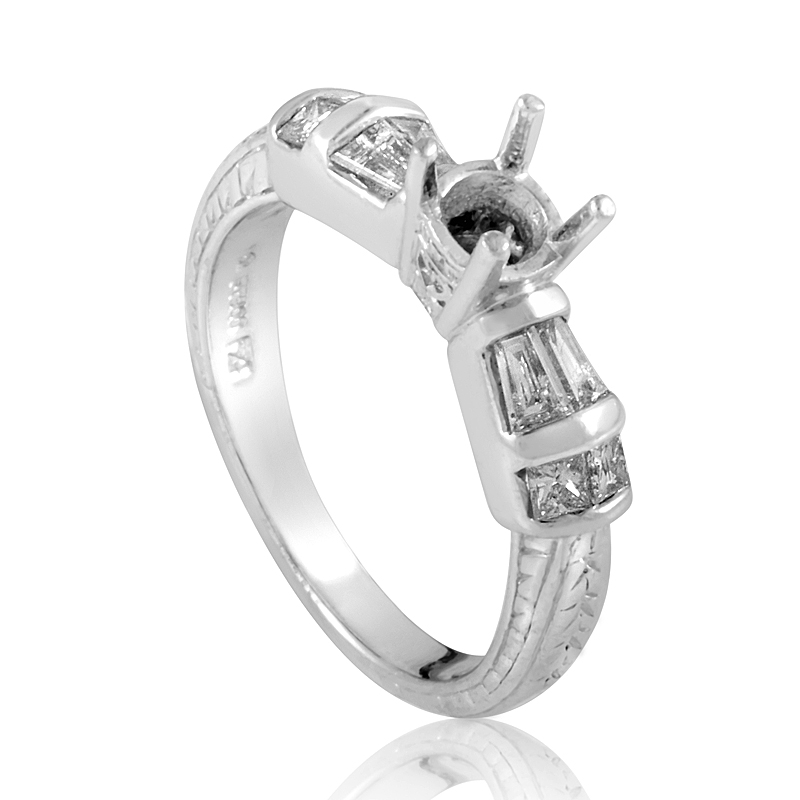 Platinum Diamond Engagement Ring Mounting CRD8628