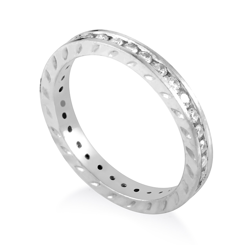 Platinum Diamond Eternity Band Ring CRD9231